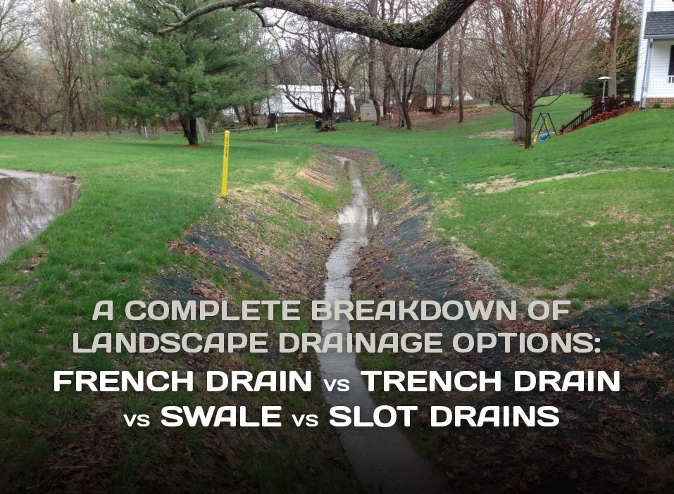 French Drain Vs Trench Swale